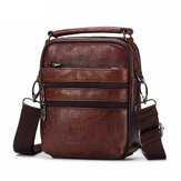 Men Luxury Genuine Leather Messenger Bag Small Brand Zipper Designer High Quality Shoulder Bag