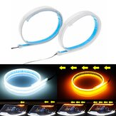 2Pcs 30/45 / 60CM Soft Switchback Sequential Signa Lámpara Headlight Kit LED Strip DRL Light