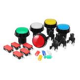45 MM Vermelho Azul Amarelo Verde Branco LED Botão de Pressão para Arcade Game Console Controlador DIY