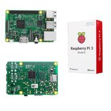 Raspberry Pi 3 Modell B ARM Cortex-A53 CPU mit 1.2 GHz 64-Bit Quad-Core 1 GB RAM 10 Male B +