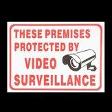 CCTV Kamera Sign Sticker Kendinden yapışan Zarf Bu Video İzleme Modülü Tarafından Projelenmiş Mekanlar