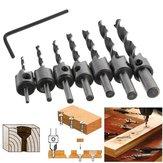 7 stücke 3mm-10mm 5 Flöten Senker Bohrer Set HSS Zimmerei Reibahle Holzbearbeitung Fase Bohrer