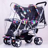 Temizle Arabası Yağmur Kapağı Hava Pram Bebek Bebek Çift Puset Rüzgar Kalkanı Yağmurluk