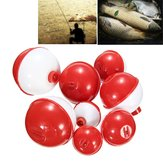 ZANLURE 8Pcs/lot Assorted Sizes Fishing Bobber Round Floats Combo Tackle Assortment