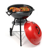 Portable Red Kettle Trolley BBQ Grill Houtskool Barbecue Hout Barbecue Picknick BBQ Grill