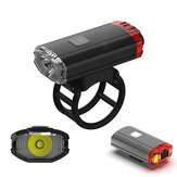 XANES XL23 650LM Helemt Bike Bicycle Headlight Tail Light 2 In 1 USB Rechargeable Waterproof Cycling Front Light