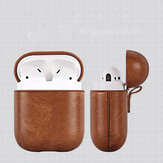 PU Leather Shockproof Earphone Protective Case For Apple AirPods 2016 & 2018