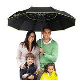 Xmund XD-HK14 Golf Parapluie Double Couche Coupe-Vent Anti-UV Parasol 3-4 Personnes Trois Parasol Pliant