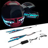 Shark Style Motorcycle Helmet Light Strip LED Night Signal Light Stripe Glowing