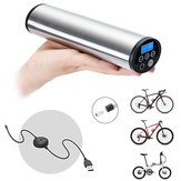 CYCPLUS 2 in 1 150PSI Hand-held USB Rechargeable Automatic Air Inflator for All Models Bicycle/ Car/ Motorcycle with Schrader/Presta Pressure Monitor LED Emergency Lighting