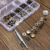 20pcs Press Stud Buttons Poppers Leather Craft with Fixings Tools Kit 201Tools