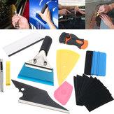 10 em 1 Janela Ferramentas Tint Car Wrapping Aplicação Kit Etiqueta Vinil Folha Squeegee