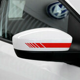 2pcs Car Rear View Mirror Cover Stickers Vinyl Stripe Decal Emblem KK para Mercedes