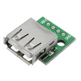 10st USB 2.0 Female Head Socket DIP 2,54mm Pin 4P Adapter Board
