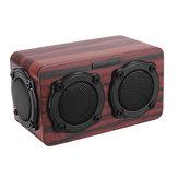 Kingneed S403 Bluetooth Беспроводной деревянный 2-х динамик 2 Басовый мембранный 2x3 Вт динамик