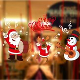 DIY Christmas Wall Stickers Home Decor Christmas Santa Claus Window Glass Decorative Wall Decal