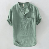Mens Practical Pocket Breathable Loose T-Shirts