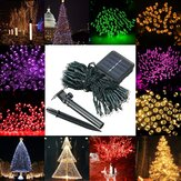 Impermeable Solar Powered 12M 100LED String Fairy Light Garden Party Decoración navideña