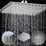 8 Inch Acero inoxidable Cuarto de baño Cuadrado de plata Presurizar la lluvia Cabezal de ducha Acabado en cromo