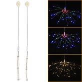 Przycisk Zasilanie bateryjne 3 tryby DIY LED Firework Fairy String Light Christmas Party Decor