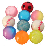 10Pcs Bouncy Jet Balls Kids Toy Diameter 27mm Colorful for Stocking Fillers Party Leisure Time