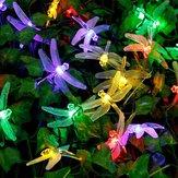 Honana دكس-334 20 ليد اليعسوب الملونة سلسلة أضواء الشمسية بدعم ليلة ضوء حديقة ديكور المنزل