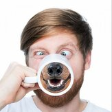 Funny Dog Nose Coffee Tea Mug Creative Pet Doggy Nose Ceramic Water Cup Gift For Friends