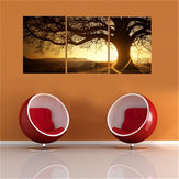 3Pcs Sunset Combination Painting Printed On Canvas Frameless Drawing Home Background Wall Decor