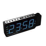 アラームクロックプロジェクターLEDデジタル表示温度スヌーズFMラジオプロジェクタークロック