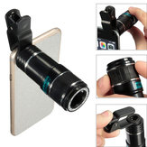 Universal 12X Zoom Optical Clip Telephoto Telescope Lente de Câmera para Tablet Cell Phone