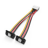 Vention KDCBB 4Pin to 2 SATA 15Pin Hard Disk Convert Cable Extend Line Black