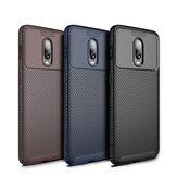Bakeey Carbon Fiber Shockproof Soft TPU Protective Case For Oneplus 6T / OnePlus 7