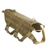 Hunting Military Tactical Patrol Dog VesT Training Harness Rechtshandhaving Airsoftsports Gear