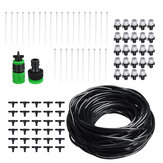 25m DIY Plant Self Watering Micro Drip Irrigation System Garden Hose Kits with Adjustable Dripper