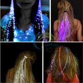 Flash LED Cabelo Braid 40 CM Decorativos Presente Do Presente Do Partido Dos Namorados Light-Up Fibra Óptica Extensão Barrette