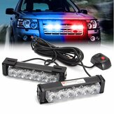2 in 1 LED Strobe Lights Front Grille Flashlight Warning Lamp 12V 6W for SUV Truck Off Road Car