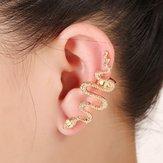1Pc Abartı Yırtığı Sağ Kulak Kelepçe Çinko Alaşımı Küpeler