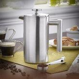 350ml Doublewall Paslanmaz Çelik Kahve Pistonu French Press Çay Yapıcı Handy Kahve Makinesi