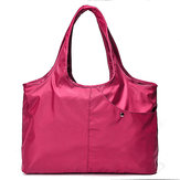 Donne Nylon Borsa Tote Solid Borsa Shopping Multi Pocket Borsa