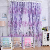 100x200cm Bird Nest Print Tulle Gordijn Balkon Slaapkamer Bay Window Screen