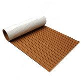 600x2400x5mm Brown Black Decking Scafo EVA Foam Marine Flooring Faux Decking Foglio