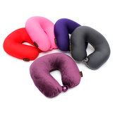 Memory Foam Particles U Shape Neck Head Rest Pillow Car Flight Travel Soft Nursing Cushion