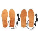 Par Electirc USB Aquecimento Palmilha Sapato Pad Recarregável Aquecedor Elétrico Pé