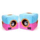 Soft Lit chaud pour animal domestique Igloo Cave confortable Chien / Chiot / Chat / Chaton Cube Lit domestique