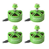 4X Racerstar 2508 BR2508S Green Edition 1275KV 4-6S Moteur Brushless Pour FPV Racing RC Drone