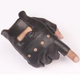 FAITH PRO охотничьего спорта Тактические Кожа PU запястье Половина Finger Черный Мужская рукавицы Коза Перчатки