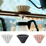 1PC Ceramics Origami Sytle V60 Filter Cup Coffee Dripper 1-2cups For Barista Ceramic Filter Cup