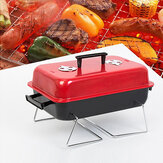 Portable BBQ Grill Small Rack Cooking Stove Picnic Stainless Steel Charcoal Meat Cooking Machine