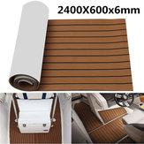 2400x600x6mm EVA Foam Brown With Black Line Boat Flooring Faux Teak Sheet Pad