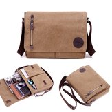 Men Vintage Canvas Laptop Bag Messenger Bag Travel Bag Shoulder Bag